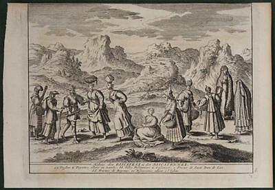 Biscay (Bizkaia Or Vizkaya)Natives Spain 1707 Van Der Aa Antique Fashion Plate