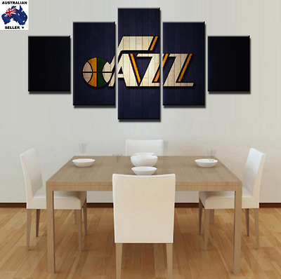 Utah Jazz Decor Canvas Wall Art Picture Landscape (5piece)