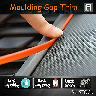 10M Auto Gap Trim Edge Strip Line Point Moulding Accessory Universal Fit Orange