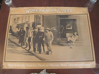 GRATEFUL DEAD Poster Workingman's Dead Original Warner Record Store Display 1970