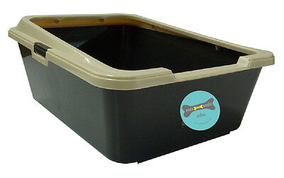 Deep Sided Cat Litter Tray with Rim 59x45xH26cm