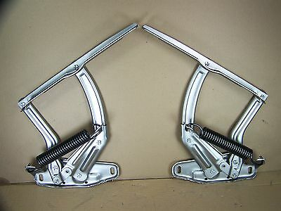 1968-72 Tempest, Lemans, Gto Restored Hood Hinges-Stainless Steel Finish #161