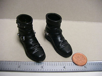 "1:6 Scale Biker Boots w/ Chains 12""Inch Figure Accessories** BBI Sideshow Dragon"