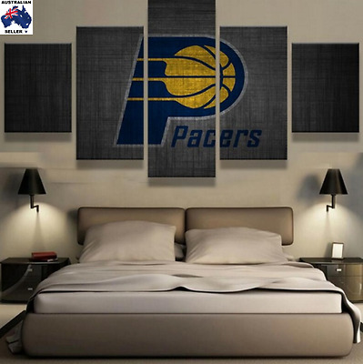 Indiana Pacers Decor Canvas Wall Art Picture Landscape (5piece)