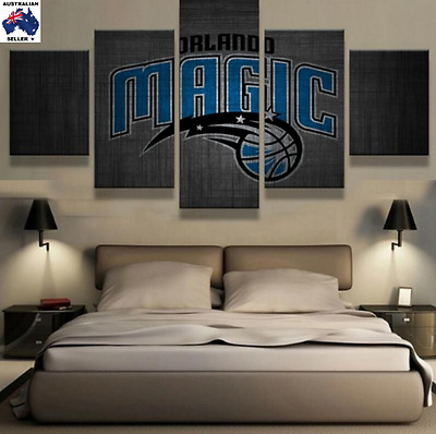 Orlando Magic Decor Canvas Wall Art Picture Landscape (5piece)