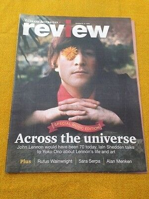 JOHN LENNON THE BEATLES Aust. Magazine Cover Story 2010 Vintage Cover Photo