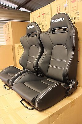 2 x Recaro SR5 in hard wearing Charcoal Black PVC, medium