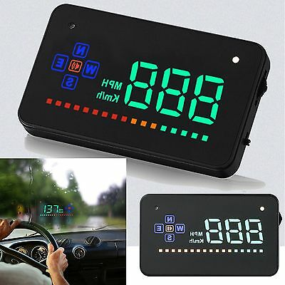 """3.5"""" GPS HUD Car Head Up Display KMH/MPH Alarm Over Speed Driving Compass System"""