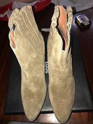Womens Seed Taupe May Mira Suede boot Brand New  in box