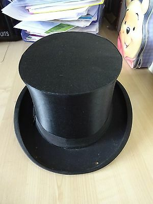 Vintage West German1930s Gentleman's Silk Top Hat  Display Prop RARE!