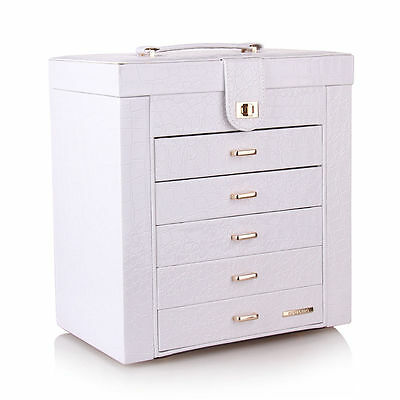 Large Jewelry Box Cabinet Ring Watch Trinket Organizer Chest
