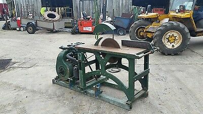 saw bench diesel Peter engine tractor linkage