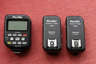 Phottix Odin TTL Flash Trigger Twin Pack with Nikon Cables