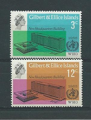 Gilbert & Ellis SG127-128 1966 WHO HQ Unhinged Mint