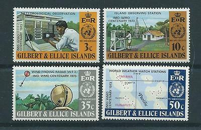 Gilbert & Ellis SG223-226 1973 Centenary of the IMO/WMO Unhinged Mint