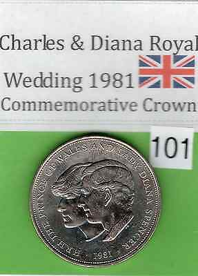 1981 Royal Wedding Commemorative Coin Charles And Diana  (Item: 101)