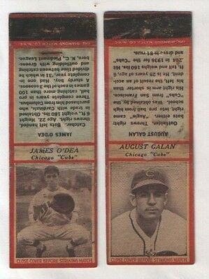 """old baseball players bookmatch covers Chicago """"Cubs"""" #029"""