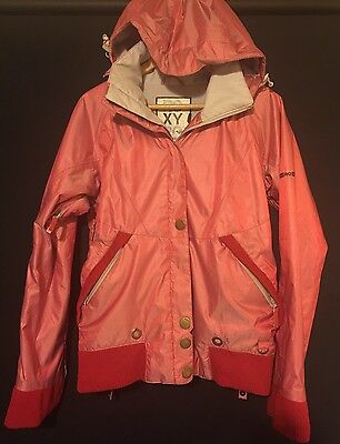 ROXY Snowboarding Ski Snow Jacket Women's Size Small 8 - 10 Red & Grey