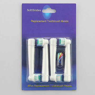 4 Pcs Electric Tooth Brush Head Replacements For Oral B Vitality Precision Soft