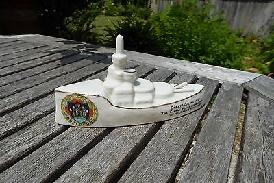 Carlton Crested China Ww1 Great War German Fleet Surrendered Ship - Guildford