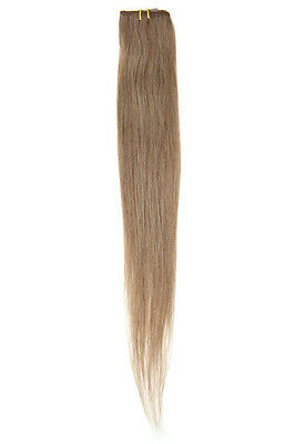 """American Pride Single Weft Clip in Hair (6clips/20g) 18"""" Mousey Brown 8"""