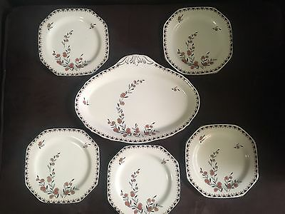 Alfred Meakin Platter And 5 Sideplates