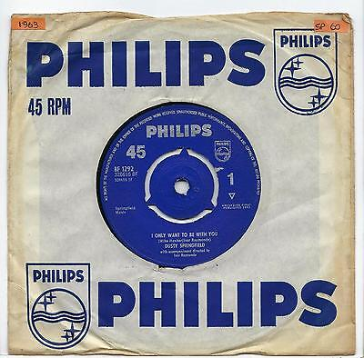 """Dusty Springfield - I Only Want To Be With You - 7"""" Single"""