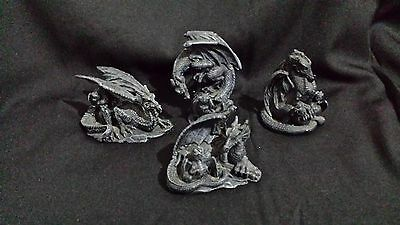 Gothic Resin Dragon Ormanents Set Of 4 As New Condition !!!!!!!!!!!!!!!!!!!!!!!!