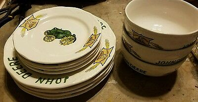 Vintage Gibson John Deere Tableware 12 Piece Collectible China Dinnerware Set