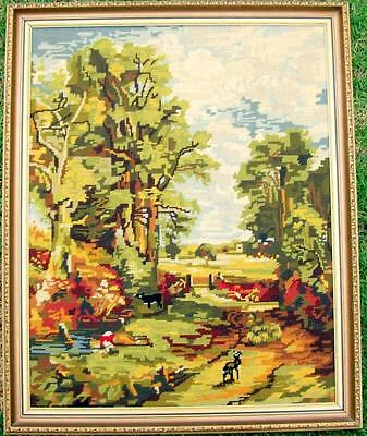 """Large framed tapestry """"Cornfields"""" (after John Constable) by Jodi Latham"""