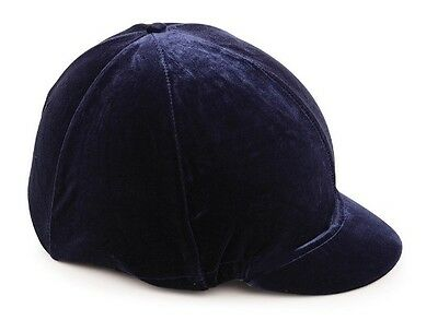 Shires Velveteen / Velvet Hat Cover Navy - Black - Brown