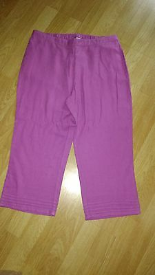 ladies pink cropped trousers size 16