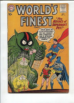DC Comics Worlds Finest  #112   Very Good/Fine   Silver Age Comic 1960's