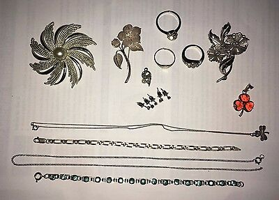 Bulk Jewellery Lote - Silver and Silver Tone - Wear &/or Repair