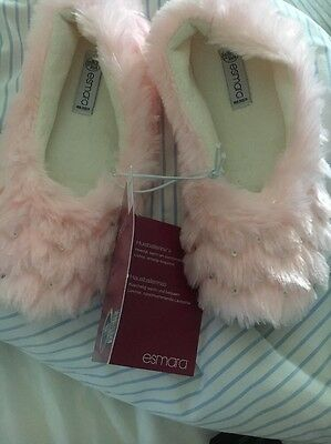 Slippers Ballerina Pink Size 3.1/2 To 4