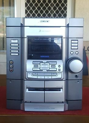 Sony 3Cd/aux/stereo System Unit/1300 Watts Pmpo