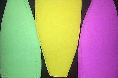 12 NEON Summer Bottle Coozies Collapsible New Blank Lot Screen Print Heat Press