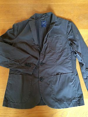 "Gap men's dark grey poplin blazer / jacket, size XS (34""-36"" chest)"