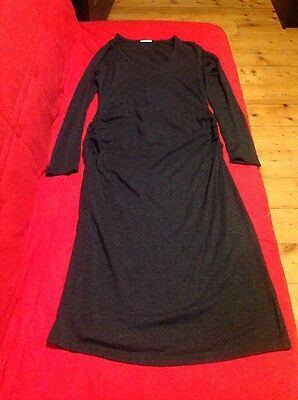 Fitted Midi Length Charcoal Gray Soon Maternity Dress Size Medium