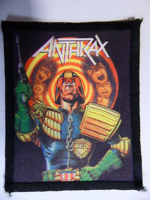 Anthrax Judge Dead Vintage1980s Printed Sew On Patch Excellent