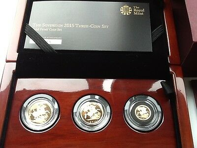 sovereign 2015Three coin set Gold proof