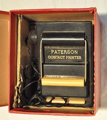 Vintage PATERSON contact printer + instructions and original box. Working.