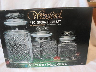 NEW Wexford Anchor Hocking 3 PC Storage Jar Kitchen Canisters