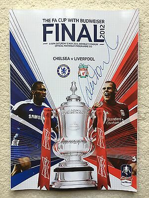 2012 FA Cup Final Programme - Chelsea vs Liverpool - SIGNED BY ROBBIE FOWLER