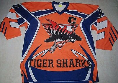 Rare Tiger Sharks Kim Woo Jae 77 Hockey Jersey Shirt 김우재 Asia Korean Player L