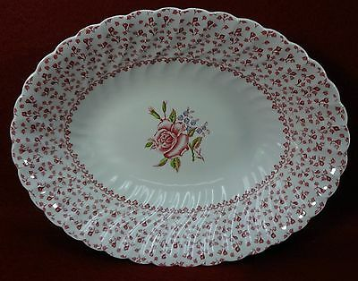 JOHNSON BROTHERS china ROSE BOUQUET pattern Oval Vegetable Serving Bowl - 9""