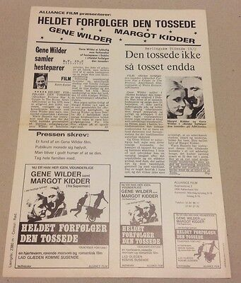 """""""Quackser Fortune Has a Cousin in the Bronx"""" 1970 Danish Movie Press Release Kit"""