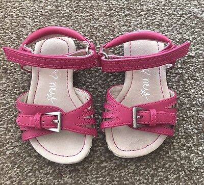 Girls Pink Sandals From Next Infant Size 4