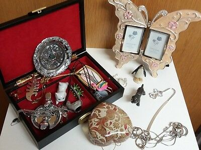 Joblot  Of  21  Mixed Items  Including  Butterfly  Style  Photo  Frame