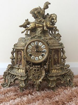 Antique brass chiming clock